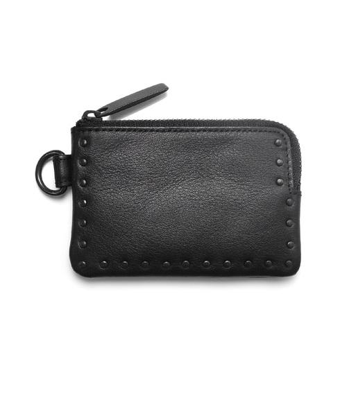 Leather coin case 'corner studs' KS コインケース