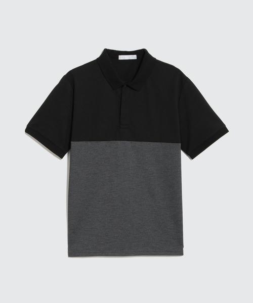 鹿の子 バイカラーポロシャツ