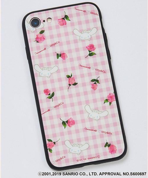 シナモロールギンガムフラワーiPhoneケース