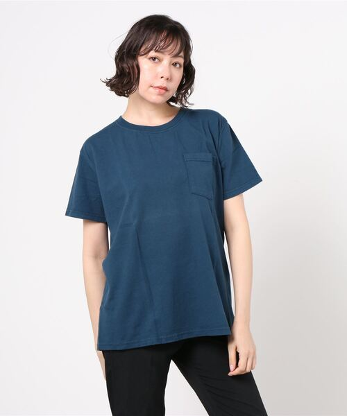 "【Goodwear/グッドウェア】7.2ozクルーネックポケットTシャツ""スリムフィット"""