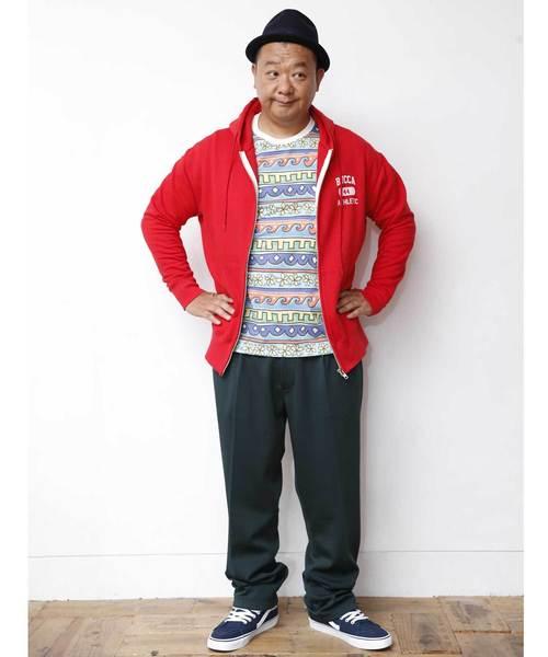 【BUCCA 44】総柄プリントTEEシャツ
