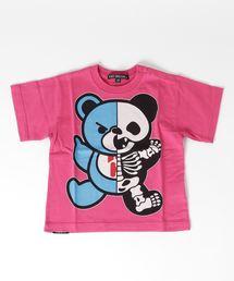 HYS BEAR SKELTON pt Tシャツ【XS/S/M】ピンク