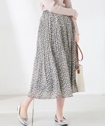 natural couture(ナチュラルクチュール)の小花柄消しプリーツスカート(スカート)