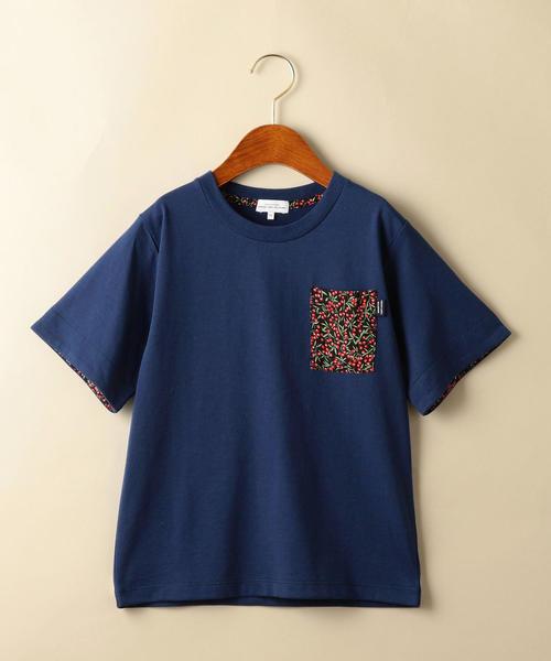 【ジュニア】〔吸水速乾〕チェリーポケットTシャツ
