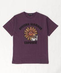 FLOWER POWER Tシャツ【L】パープル