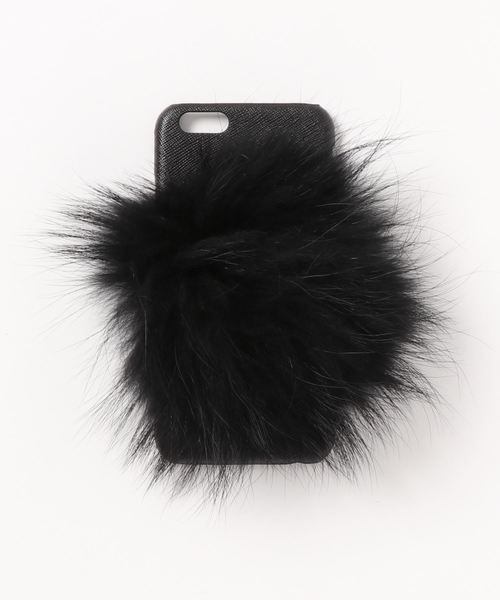 【Bs】IPHORIA アイフォリア アイフォンケース Black Lining Case with Pom Pom for iPhone 6 / 6s