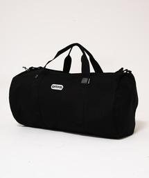 233 ロールボストンバッグ 定番アイテムのサイズリニューアル ブランドロゴブラック