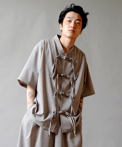 DISCOVERED ディスカバード / LANA WOOL CHINA SHIRTS サマーウールチャイナシャツ / DC-SPF21-SH-01