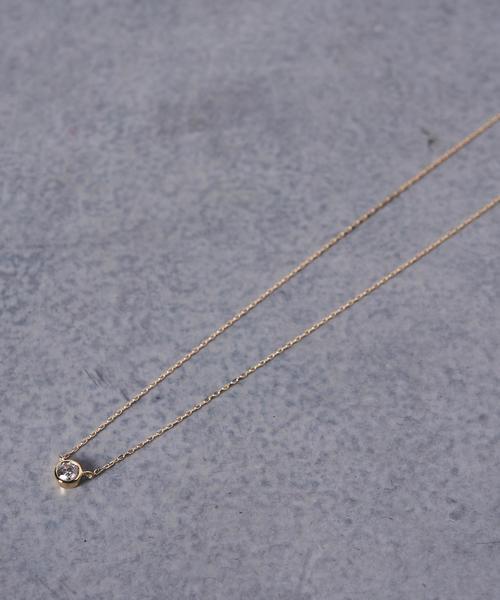 爆買い! UBCB 18K 1ダイヤ ネックレス, micce e9b3bfe6