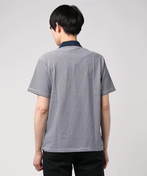 【DANTON】ポロシャツ STRIPE MEN