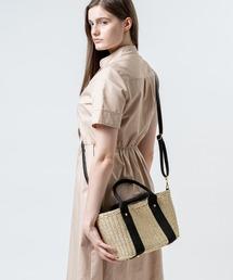 b3622608a4e9 MURA WOMEN'S(ムラウィメンズ)の「ショルダーベルト付き コンパクト シンプル かごバッグ(