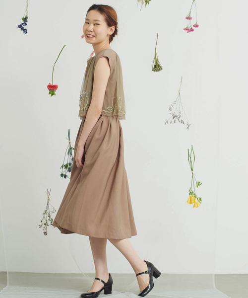 激安大特価! ■noir くるくるリボン刺繍チュールワンピース, 新しいブランド 69bb579a