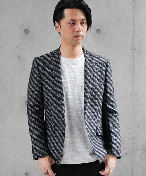 【超歓迎された】 HIGH STREET∴LEGGIUNOジオメトリックジャケット(テーラードジャケット) HIGH STREET(ハイストリート)のファッション通販, 竹田製麺:7106d042 --- blog.buypower.ng