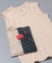 ADAM ET ROPE'(アダムエロペ)の【Hanes FOR BIOTOP】Sleeveless T-Shirts(カラー)(Tシャツ/カットソー)