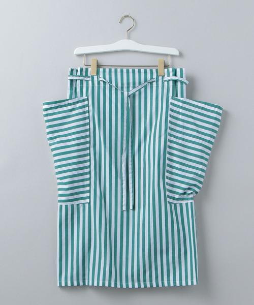 <YARMO>STRIPE SIDE POCKET APRON SKIRT/スカート Ψ