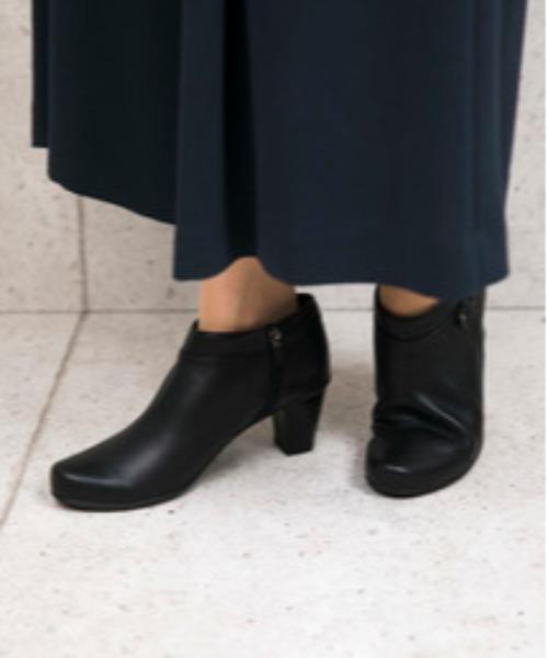 ~Lサイズ~ サイレントヒールベルテッドショートブーツ