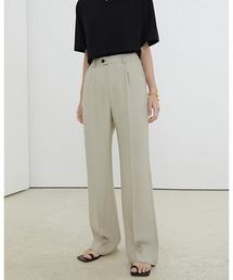 【Fano Studios】【2021SS】Loose straight casual pants FX21K047ライトベージュ