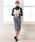 夢展望(ユメテンボウ)の「フロントボタンチェックタイトナロースカート(スカート)」|詳細画像