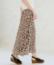 LOWRYS FARM(ローリーズファーム)のハナクルミボタンAラインスカート 828989(スカート)
