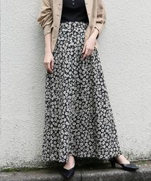 LOWRYS FARM(ローリーズ ファーム)のハナクルミボタンAラインスカート 828989(スカート)