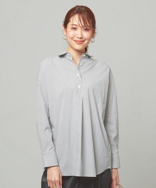 <ma couleur>ストライプ イージーシャツ