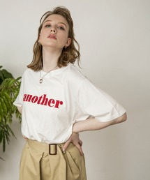 anther logo teeレッド