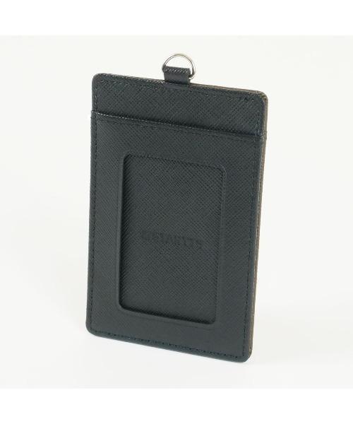 【 STARTTS / スターツ 】Card in PassCase BLACKxBROWN牛革両面スキミング防止カードケース SRI WL03
