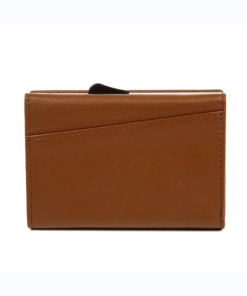 MURA(ムラ)の「RFIDスキミング防止機能付 レザー 三つ折り ミニ財布(財布)」|ブラウン