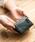 MURA(ムラ)の「RFIDスキミング防止機能付 レザー 三つ折り ミニ財布(財布)」|グリーン