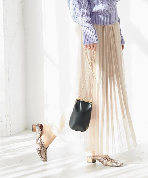 ROPE' PICNIC(ロペピクニック)の「ラメプリーツスカート(スカート)」 ベージュ