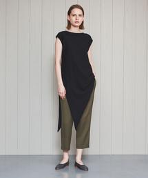 <FEMMENT>SATIN DOUBLE TUCK PANTS/パンツ