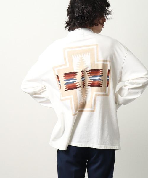 【 PENDLETON / ペンドルトン 】 UNISEX MOCK NECK Tshirt ユニセックス モックネック ロンT バックプリント MNY