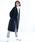 koe(コエ)の「・ノーカラーVネックコート(ダウンジャケット/コート)」|ネイビー