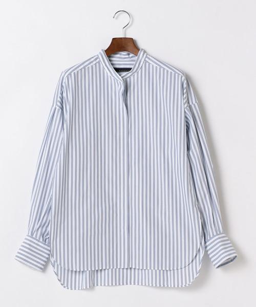 martinique/バンドカラーシャツ