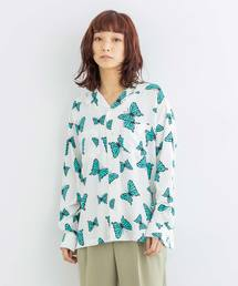 X-girl(エックスガール)のBUTTERFLY L/S SHIRT(シャツ/ブラウス)