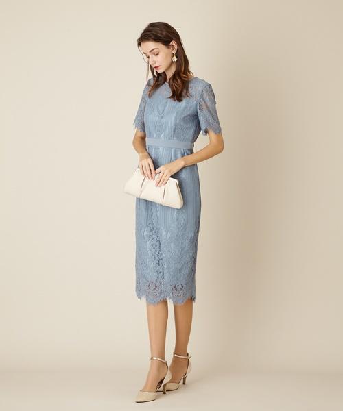 7ecc8b2c2e4b4 AIMER(エメ)のパネルレースタイトドレス Aimer Acret (ドレス)