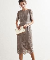 AIMER(エメ)のパネルレースタイトドレス【Aimer Acret】 / 結婚式・2次会(ドレス)