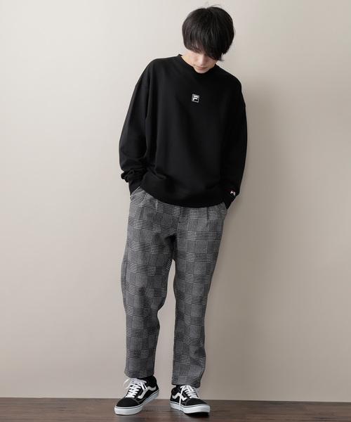 チェックテーパードパンツ(TP fabric)