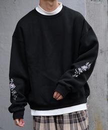 kutir(クティール)の袖刺繍ウラキモウスウェット(Tシャツ/カットソー)
