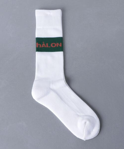 <hALON(アーロン)> ロゴ ソックス