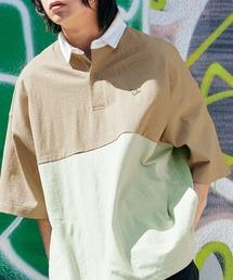 Mark Gonzales/マークゴンザレス MONO-MART別注 ロゴ刺繍 ビッグシルエット サイドポケット 半袖ラガーシャツグリーン系その他