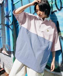 Mark Gonzales/マークゴンザレス MONO-MART別注 ロゴ刺繍 ビッグシルエット サイドポケット 半袖ラガーシャツブルー系その他2