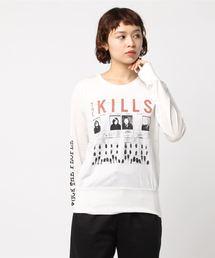 THE KILLS/FUCK THE PEOPLE プリント Tシャツ