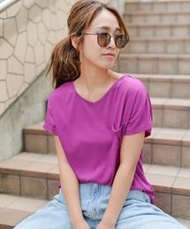 clear(クリア)のVネックオーバーサイズTシャツ(Tシャツ/カットソー)