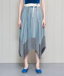 <IHNN>LONG BELT PLEATED SKIRT/スカート.