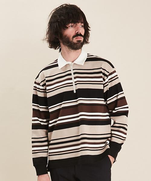 ウイスキー専門店 蔵人クロード マルチボーダーハーフジップシャツ(Tシャツ/カットソー)|UNITED TOKYO(ユナイテッドトウキョウ)のファッション通販, Shift_scissors:89c68356 --- gnadenfels.de