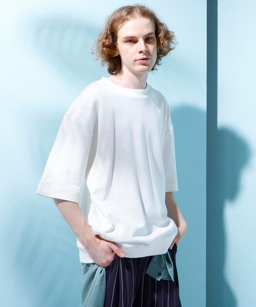 コットン裏毛ビッグシルエットプルオーバー 1/2 sleeve(EMMA CLOTHES)