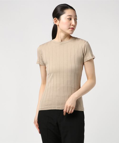 【YOUNG & OLSEN The DRYGOODS STORE】BROAD リブカットソー WOMEN