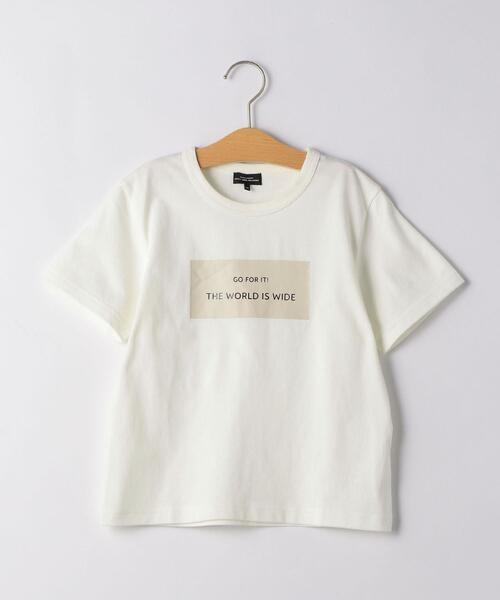 【キッズ】スクエアロゴプリントTシャツ