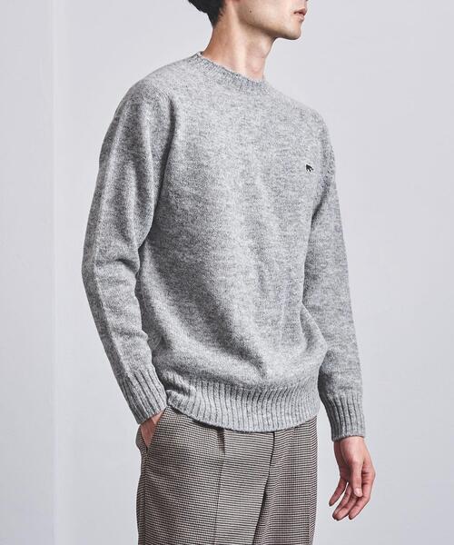 <SCYE BASICS(サイベーシックス)> シェットランド クルーネック セーター